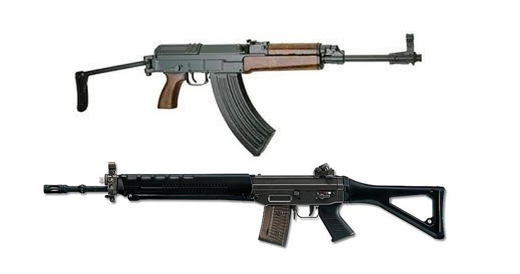 firearms reform - Swiss Arms Sig 550 and Cz 858