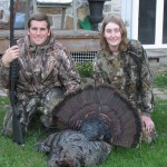 Dean Nolan and his girlfriend Melissa Sheil went out for an afternoon hunt and brought him this nice gobbler. The bird weighed 21 pounds, had a 9-inch beard, and 1-inch spurs.