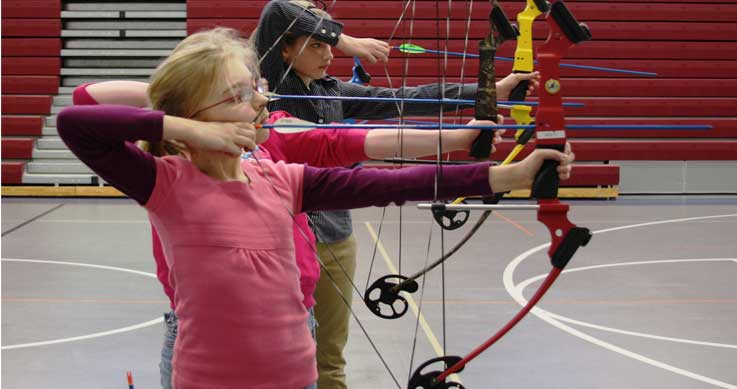NASP - kids shooting bows