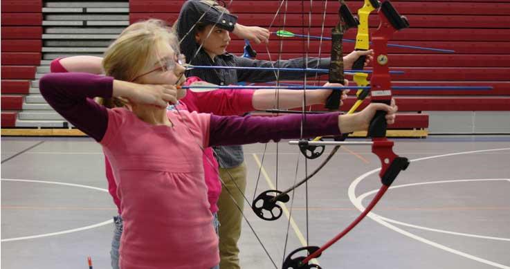 NASP - kids shooting bows
