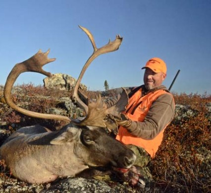 quebec tundra - Mike Miller and his caribou.
