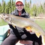 Lynn Foley with trout.