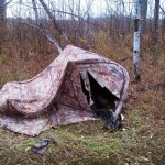 Ripped hunting blind