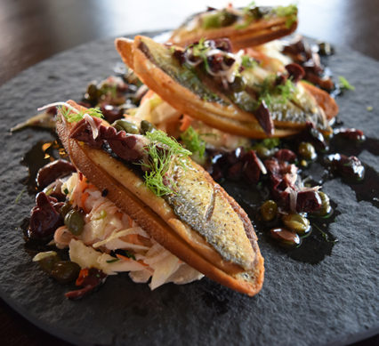 Herring crostini