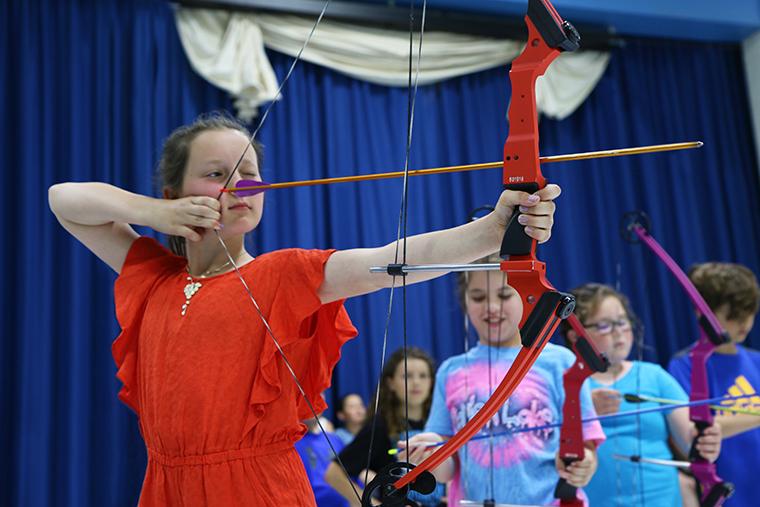 NASP - girl shooting arrow