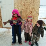 Hannah, Grace, and Drake landed this nice pike while spending the day at the ice shack with their poppa.