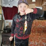 Jamieson Foster caught this perch while ice fishing with his dad on Lower Rideau Lake.