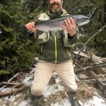 Ian Dart landed this 28-inch steelhead on Steel River near Marathon.