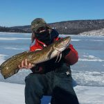 Tyson Kan iced this burbot while targeting lake trout.